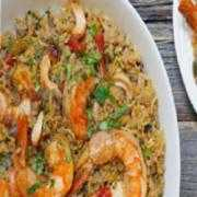 Family pack gongura prawn biryani